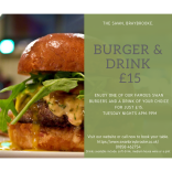 Burger & Drink for £15 at The Swan, Braybrooke