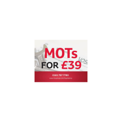 MOT JUST £39 AT RRG GROUP BURY
