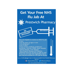 FREE FLU JABS AT PRESTWICH PHARMACY*