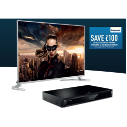 £100 off a Panasonic Blu Ray Player with ANY TV
