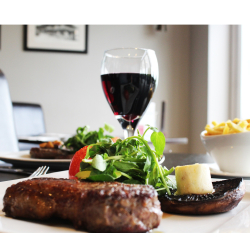 Steak Night, Date Night at the Lakes Restaurant, Stoke by Nayland