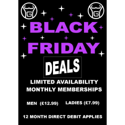 SAVE on monthly memberships at Willenhall Gym this Black Friday - memberships from just £7.99 per month!