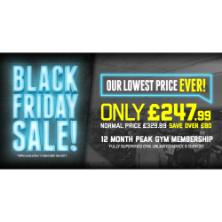 BLACK FRIDAY GYM OFFER at Bolton Arena!