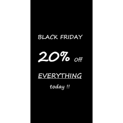 Black Friday 20% off everything at Sorriso Italian Designs!