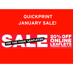 Quickprint January sale! 20% off Leaflets!