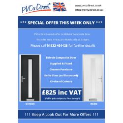 Belvoir Composite Door - Supplied and Fitted from PVCu Direct for ONLY £825!