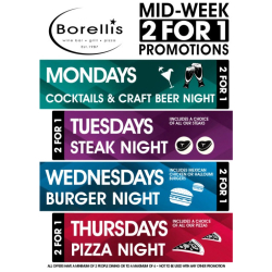Mondays Special Drinks - 2 For 1 Cocktails and Beer