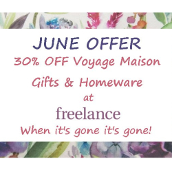 30% OFF Voyage homewares and gifts at Freelance