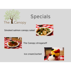 The Canopy specials
