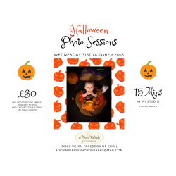 £30 HALLOWEEN PHOTO SESSION WITH  A'DORA BUBBLE PHOTOGRAPHY
