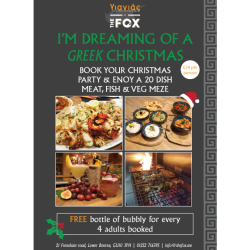 FREE bottle of bubbly for Christmas Party Bookings