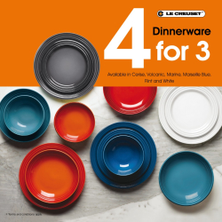 4 for 3 promotion on Le Creuset