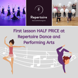First class HALF PRICE @ Repertoire Dance and Performing Arts