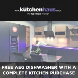 Free AEG Dishwasher with a complete Kitchen purchase at Kutchenhaus Walsall
