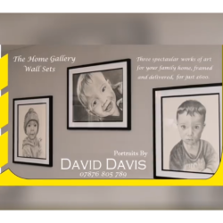 Bespoke and Framed Portrait Wall Sets at Portraits by David Davis