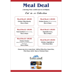 Meal Deal Offers from Everest Lounge