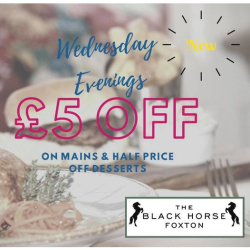 £5 OFF All Main Courses On Wed Evenings at The Black Horse