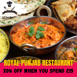 20% off when you spend £15 at Royal Punjab Walsall