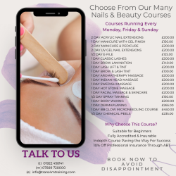 Nail and Beauty Courses from just £100 at Trans4m Training